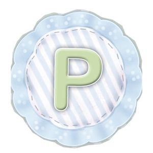 Aplique-Madeira-e-Papel-Placa-Letra--P--Menino-LMAPC-281---Litocart