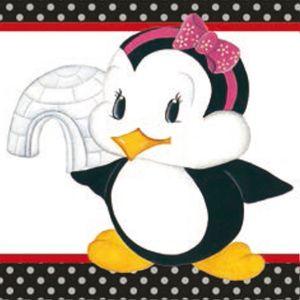 Papel-Adesivo-Decoupage-Pinguim-Femea-com-Iglu-LAX-185---Litocart