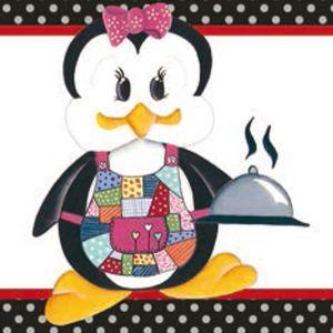 Papel-Adesivo-Decoupage-Pinguim-Femea-Cozinheira-LAX-187---Litocart