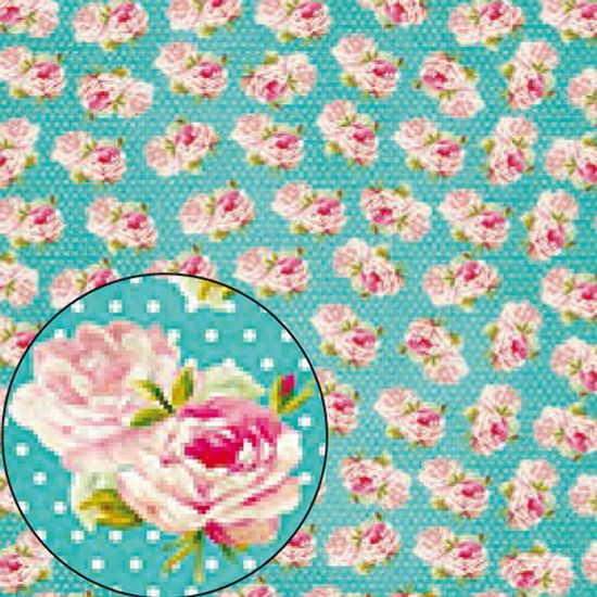 Papel-Scrapbook-Folha-Simples-flores-LSC-225---Litocart