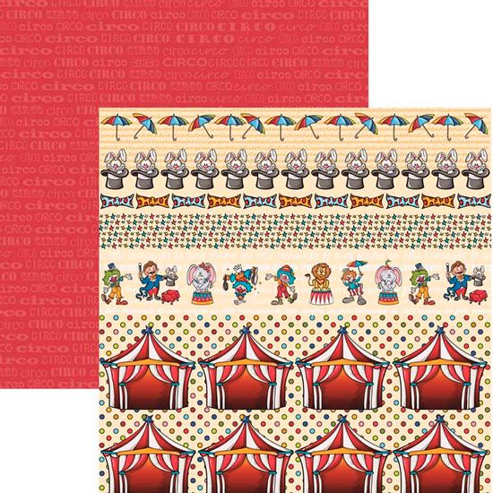 Papel-Scrapbook-Duplo-Colecoes-Palhacos-Barrinhas-SDF536-By-Flavia-Terzi