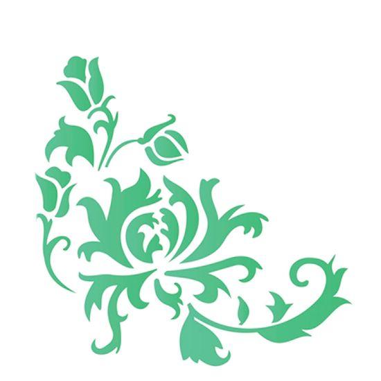 Estencil-Simples-20X25-Cantoneira-Crisantemo---OPA1766---Opa
