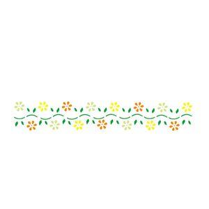Estencil-para-Pintura-Simples-4x30-Flores-Margaridas-II---OPA1991---Opa