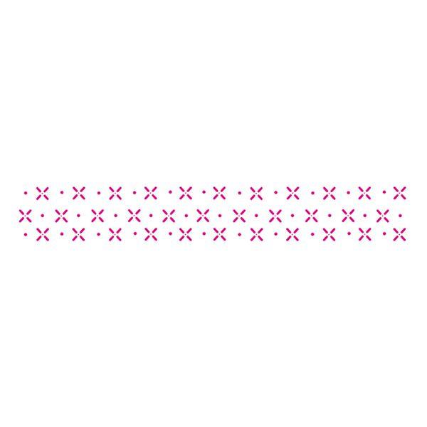 Estencil-para-Pintura-Simples-4x30-Pontilhado-V---OPA10411---Opa
