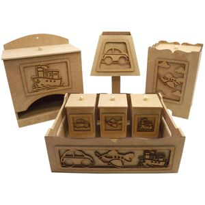 Kit-Higiene-para-Bebe-Transportes-7-pecas-com-Abajur---MDF-a-Laser