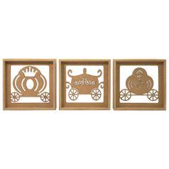 Trio-de-Quadros-Decorativo-3D-Carruagem-Princesa---MDF-a-Laser