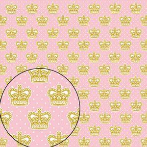 Papel-Scrapbook-Folha-Simples-Coroa-Rainha-LSC-227---Litocart