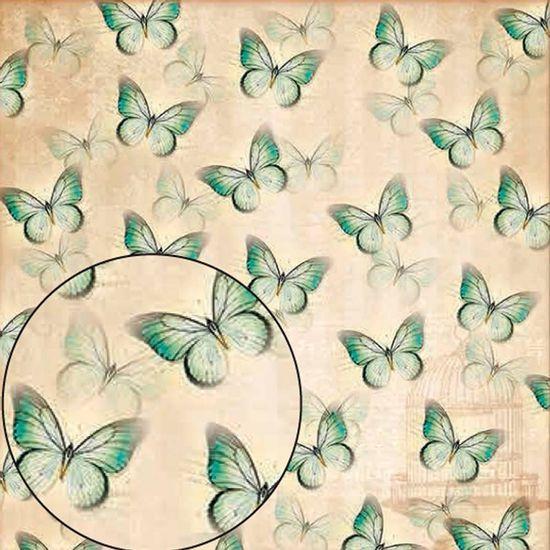 Papel-Scrapbook-Folha-Simples-Borboleta-LSC-237---Litocart