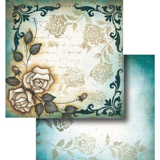 Papel-Scrapbook-Dupla-Face-Flor-com-Arabesco-LSCD-319---Litocart