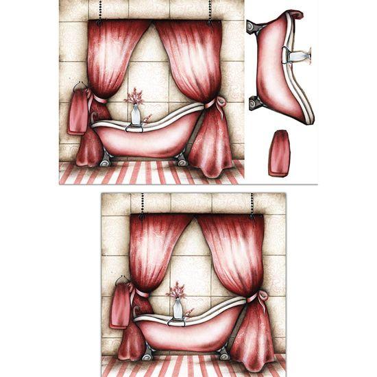 Placa-Madeira-Quadrada-3D-Banheiro-Rosa-25x25-LPQC3D-01---Litocart