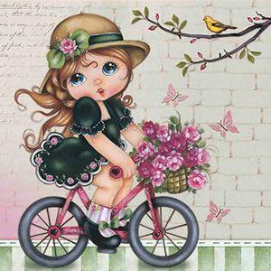 Papel-Scrap-Decor-Folha-Simples-15x15-Menina-na-Bicicleta-SDSXV-046---Litoarte