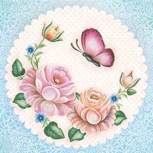 Papel-Scrap-Decor-Folha-Simples-15x15-Flores-com-Borboleta-SDSXV-055---Litoarte