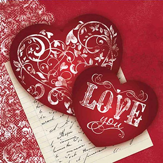 Papel-Decoupage-Adesiva-10x10cm-Love-You-DAX-076---Litoarte
