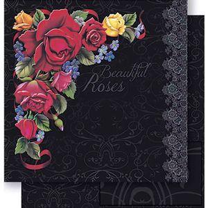 Papel-Scrapbook-Dupla-Face-Rosas-SD-444---Litoarte