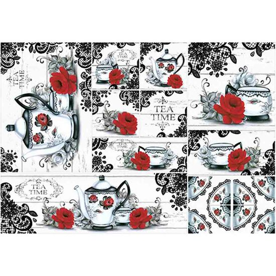 Papel-Decoupage-Hora-do-Cha-PD462N---Litoarte