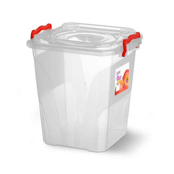 Caixa-Box-Organizadora-Mantimentos-com-Alca-Transparente-75-Litros---Niquelart