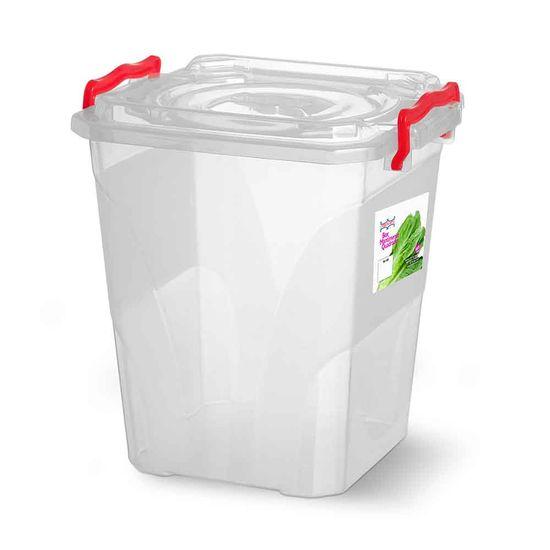 Caixa-Box-Organizadora-Mantimentos-com-Alca-Transparente-105-Litros---Niquelart