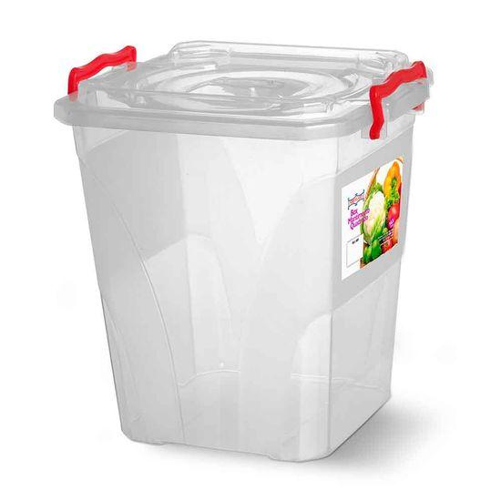 Caixa-Box-Organizadora-Mantimentos-com-Alca-Transparente-145-Litros---Niquelart