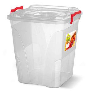 Caixa-Box-Organizadora-Mantimentos-com-Alca-Transparente-20-Litros---Niquelart