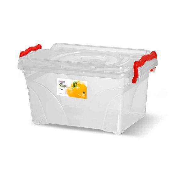 Caixa-Box-Organizadora-Mantimentos-Retangular-com-Alca-Transparente-25-Litros---Niquelart