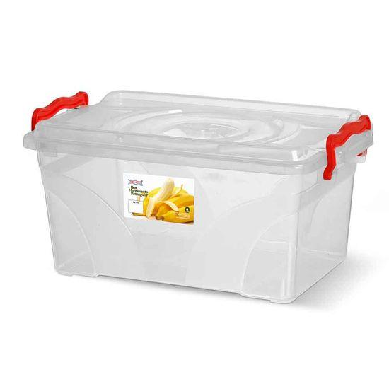 Caixa-Box-Organizadora-Mantimentos-Retangular-com-Alca-Transparente-4-Litros---Niquelart