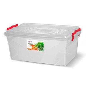 Caixa-Box-Organizadora-Mantimentos-Retangular-com-Alca-Transparente-115-Litros---Niquelart