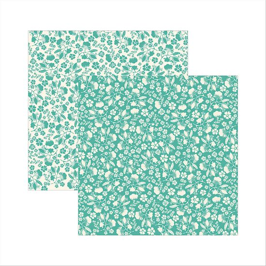 Papel-Scrapbook-Classico-Texturizado-Verde-Floral-KSBC003---Toke-e-Crie-by-Ivana-Madi