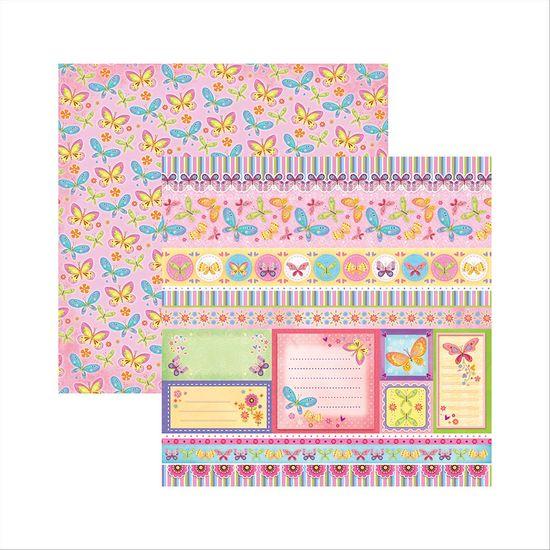 Papel-Scrapbook-Dupla-Face-Borboletas-Coloridas-Barrinhas-e-Tags-SDF548---Toke-e-Crie