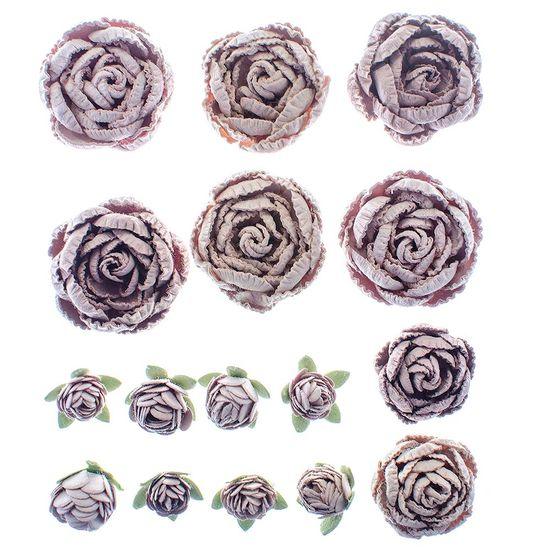 Flores-Artesanais-Rosas-Mistas-Sepia-FLOR115---Toke-e-Crie