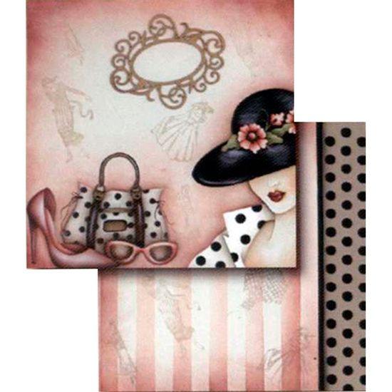 Papel-Scrapbook-Dupla-Face-Dama-com-Acessorio-LSCD-108---Litocart