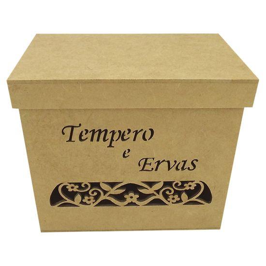 Caixa-para-Temperos-e-Ervas-Arabesco-Flor-Tampa-de-Sapato---MDF-Laser
