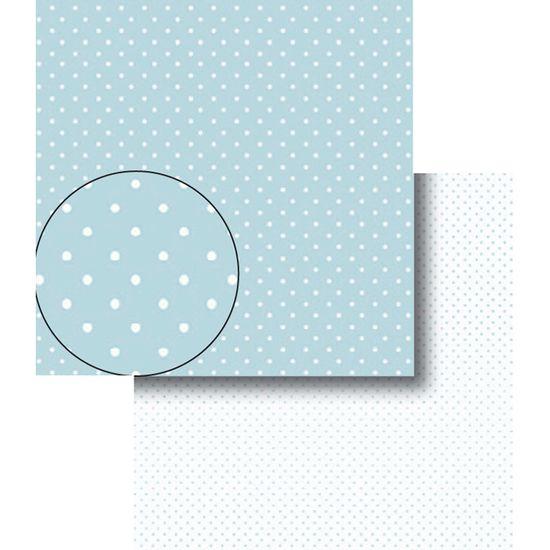 Papel-Scrapbook-Dupla-Face-Poa-Bolinhas-Azul-e-Branca-LSCDS-004---Litocart