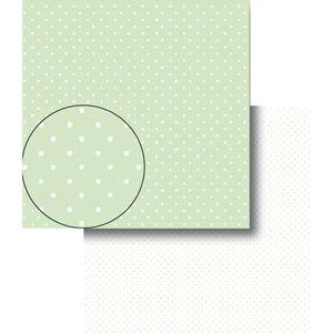 Papel-Scrapbook-Dupla-Face-Poa-Bolinhas-Verde-e-Branca-LSCDS-003---Litocart