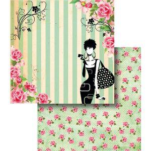 Papel-Scrapbook-Dupla-Face-Mulher-Flores-e-Listras-LSCD-345---Litocart
