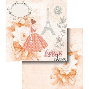 Papel-Scrapbook-Dupla-Face-Love-Paris-Rosa-LSCD-347---Litocart