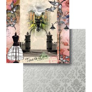 Papel-Scrapbook-Dupla-Face-Time-To-Love-Paris-LSCD-348---Litocart