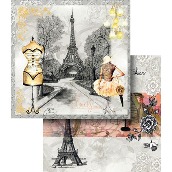 Papel-Scrapbook-Dupla-Face-Love-Paris-LSCD-349---Litocart