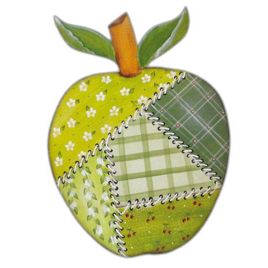 Aplique-MDF-Decoupage-Fruta-Maca-Patchwork-LMAPC-326---Litocart