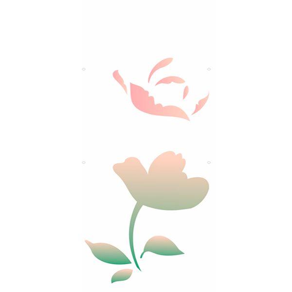 Estencil-para-Pintura-Simples-10x30-Flor-Camelia-III-OPA1868---Opa