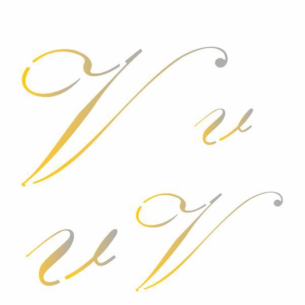 Estencil-para-Pintura-Simples-14x14-Manuscrito-V-OPA1817---Opa