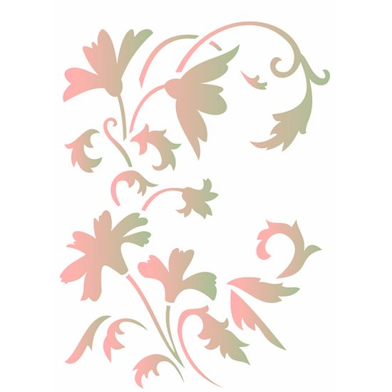 Estencil-para-Pintura-Simples-15x20-Flor-Arabesco-OPA1880---Opa