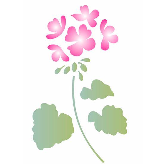 Estencil-para-Pintura-Simples-20x25-Flor-Geranio-OPA1887---Opa