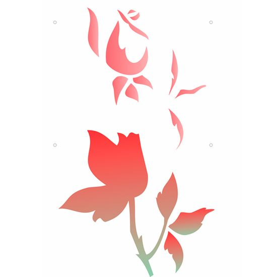Estencil-para-Pintura-Simples-15x20-Flor-Rosa-OPA1883---Opa