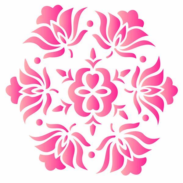 Estencil-para-Pintura-Simples-15x20-Mandala-Flores-II-OPA424---Opa