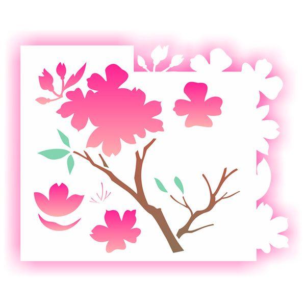 Estencil-para-Pintura-Simples-20x25-Flor-Cerejeira-OPA1705---Opa