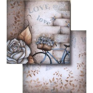 Papel-Scrapbook-Dupla-Face-Love-Paris-Bicicleta-LSCD-334---Litocart