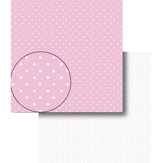 Papel-Scrapbook-Dupla-Face-Poa-Bolinhas-Rosas-e-Brancas-LSCDS-001---Litocart