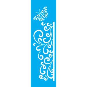 Stencil-para-Pintura-Barra-295x85-Arabesco-com-Borboleta-LS-042---Litocart