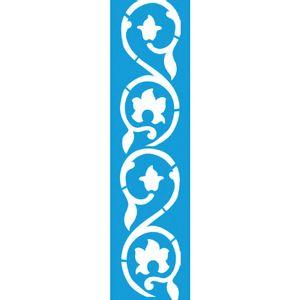 Stencil-para-Pintura-Barra-295x85-Arabesco-Flores-LS-029---Litocart