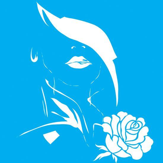 Stencil-para-Pintura-25x20-Madame-com-Rosa-LSG-012---Litocart